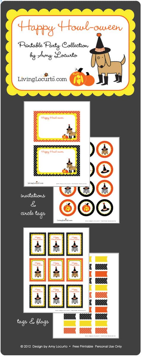 Dog Halloween | Free Party Printables | Amy Locurto  Living Locurto