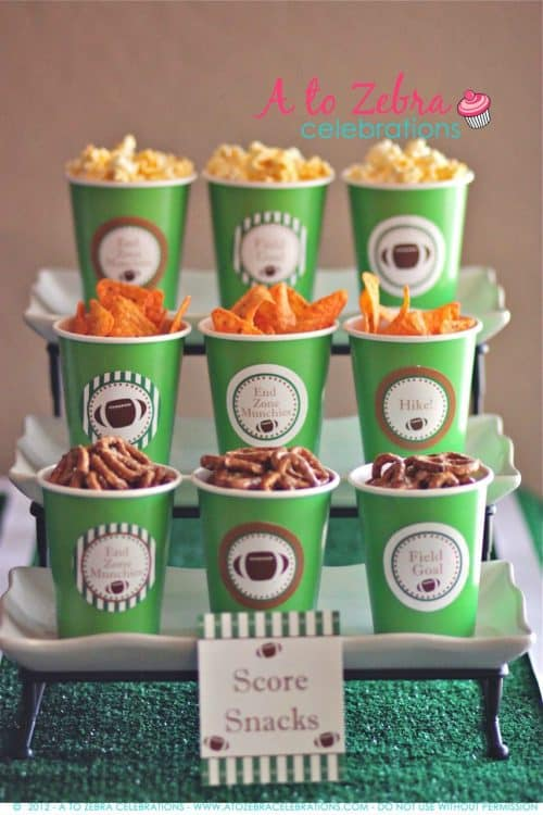Football Party Dessert Ideas |  Superbowl Party Ideas | Living Locurto | Free Party Printable Ideas