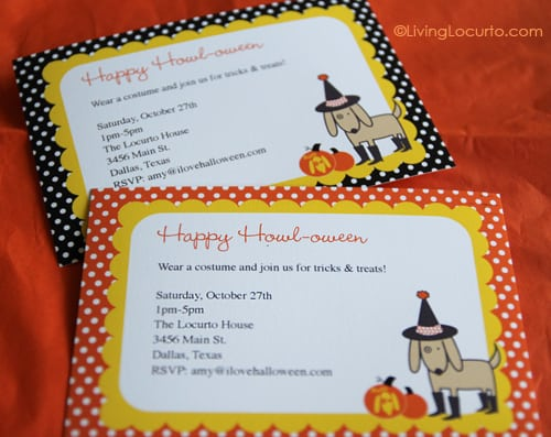 Dog Themed Halloween Free Party Printables | Amy Locurto | Living Locurto