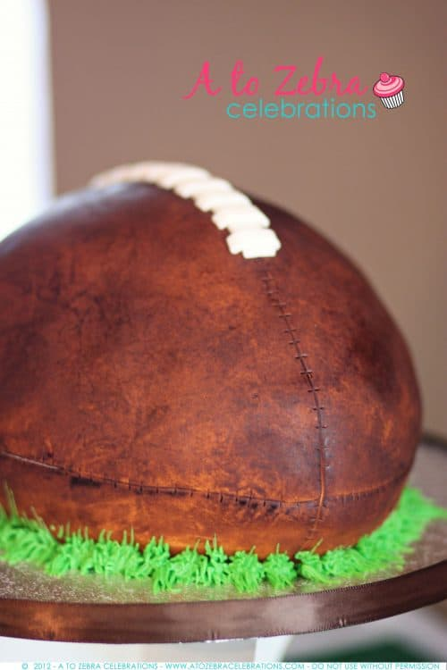 Football Cake | Fantasy Football Party ideas | Living Locurto