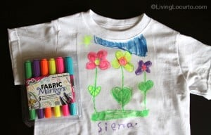 Neon Fabric Markers - Easy Kids Craft- How to Video Living Locurto