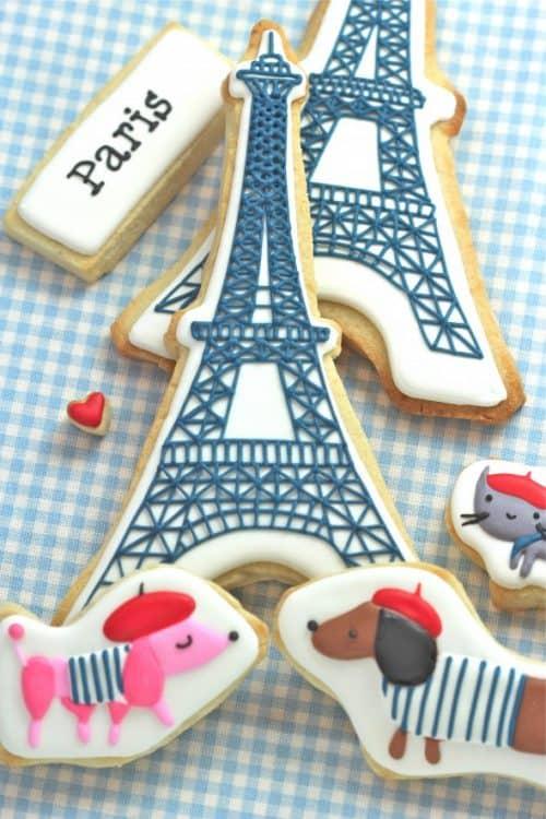 Cute French Paris Cookies
