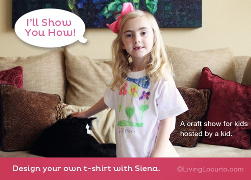 Make your own t-shirt design. Kid Craft Video | Fabric Markers |  Living Locurto