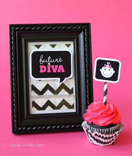 Baby Shower Free Party Printables | Framed Art | Baby Diva | Living Locurto