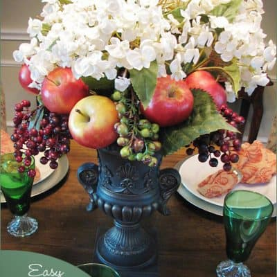 Fall Centerpiece with Fruit  {Easy Craft}