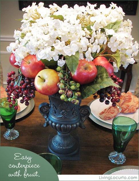 Centerpiece Decorated with Fruit - Easy Craft Idea - Living Locurto