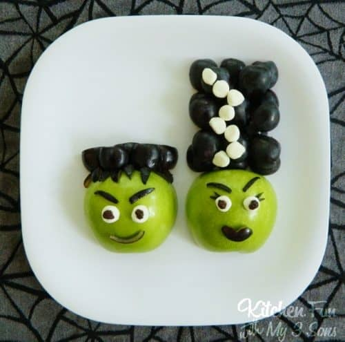 Frankenstein & Bride Halloween Apples | Fun Food Idea | Halloween | #LIvingCreative