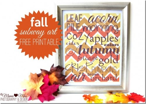 Fall Subway Art | #LivingCreative | Living Locurto | Free Party Printables