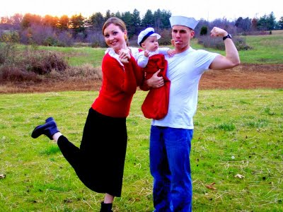 Halloween Family Costume Idea - Popeye Theme