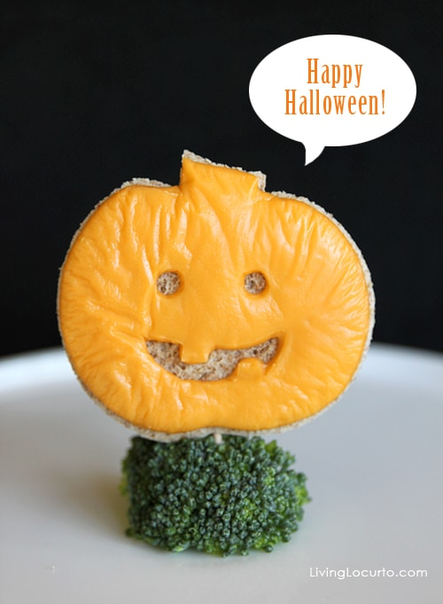 Halloween Jack o' Lantern Grilled Cheese Sandwich | Living Locurto