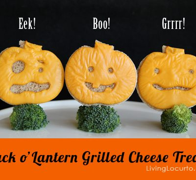 Halloween Jack o' Lantern Grilled Cheese {Fun Food}