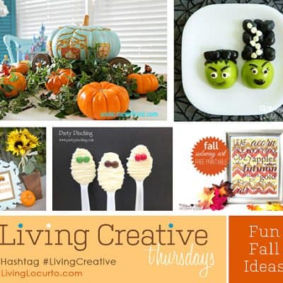 Fall Craft and Free Party Printable Ideas | Living Creative Thursday
