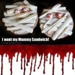 Halloween Fun Food Idea - Mummy Sandwich - Living Locurto