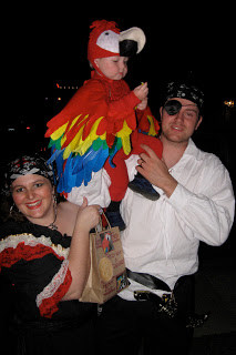 Pirate Themed Family Halloween Costume - Homemade Parrot