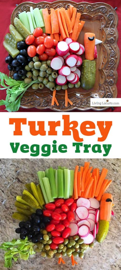 Turkey Vegetable Tray Thanksgiving Veggie Tray Recipe