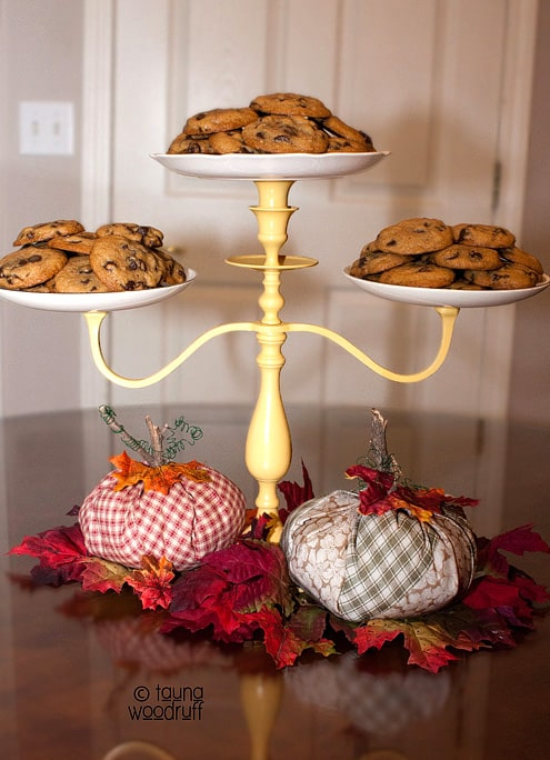 Fun Food & Craft Ideas - DIY Candleabra Cake Stand