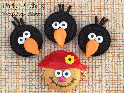 Halloween Fun Food Idea - Scarecrow and Crows
