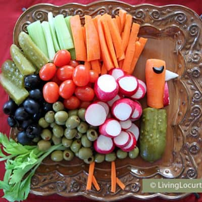 Turkey Vegetable Tray Thanksgiving Veggie Tray Recipe Party Platter