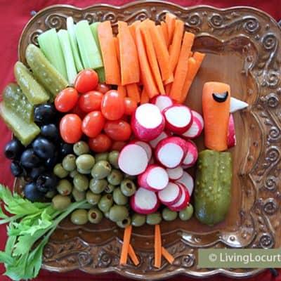 Turkey Vegetable Tray Thanksgiving Veggie Tray Recipe Party Platter