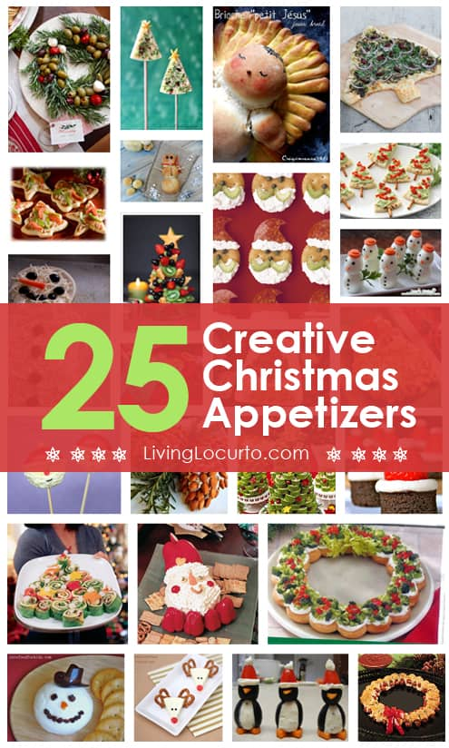 25 Amazing Christmas Party Appetizer Recipes! Fun Food Ideas and more. LivingLocurto.com