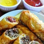 Bacon Cheeseburger Egg Rolls | Eggroll Recipe
