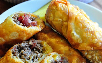 Best Bacon Cheeseburger Egg Rolls Recipe Living Locurto