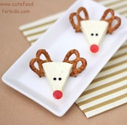 Christmas Cheese Reindeer - Party Fun Food Ideas - Appetizer Recipe
