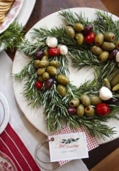 Christmas Olive Wreath - Christmas Appetizer - Holiday Party Fun Food Ideas