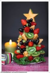 Christmas Tree Fruit - 25 Amazing Christmas Party Appetizer Recipes! Fun Food Ideas and more for a Holiday Party. LivingLocurto.com