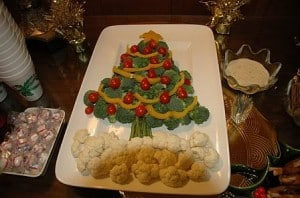 Christmas Vegetable Tray - Party Fun Food Ideas - Recipe