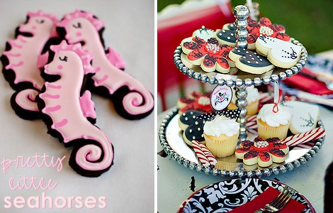Sea Horse & Holiday Cookie Ideas - Party Printables By Amy at LivingLocurto.com