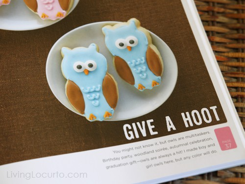 Decorating Cookies by Bridget Edwards - Cute Owl Cookies - Living Locurto