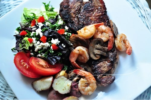 New York Strip Steak and Garlic Pepper Shrimp Recipe by Divian Conners  | Living Locurto