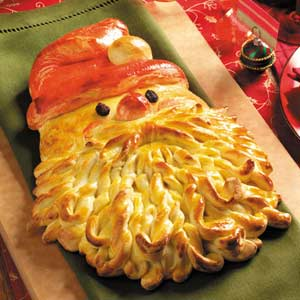 Santa Bread - 25 Amazing Christmas Party Appetizer Recipes! Fun Food Ideas and more for a Holiday Party. LivingLocurto.com