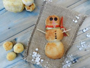 Snowman Bread - Christmas Appetizer - Holiday Party Fun Food Ideas