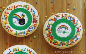 St.Patricks Day Cookies by Bridget Edwards - Free Party Printables by Amy at Living Locurto