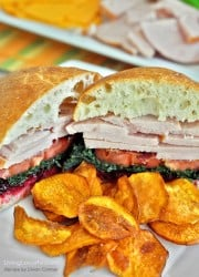 Roasted Turkey Sandwich with Kale and Cranberry Chipotle Lime Sauce Recipe | Living Locurto