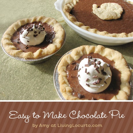 Grandma's Chocolate Pie recipe. With only 5 ingredients, this rich chocolate pie recipe is a quick and easy dessert everyone loves!