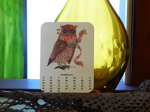 Owl Lovers 2013 Free Printable Calendar