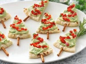 Christmas Tree Pita - Christmas Appetizer - Holiday Party Fun Food Ideas