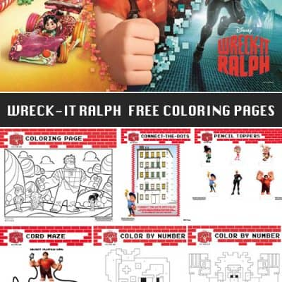Wreck-It Ralph Free Printable Coloring Pages