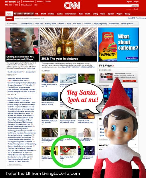 Elf on the Shelf on CNN.com Living Locurto