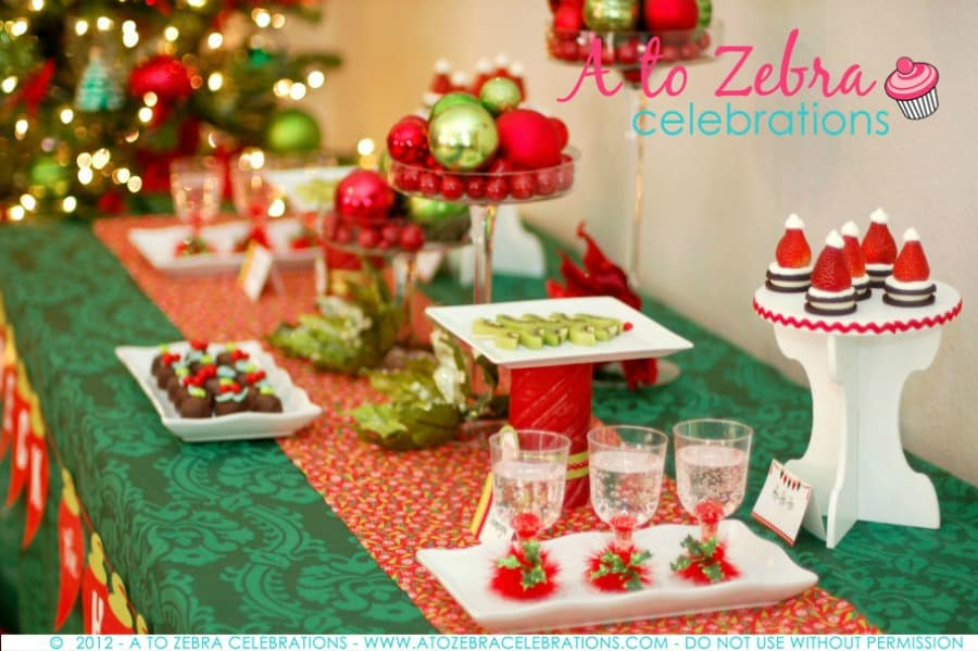 easy christmas party ideas strawberry santa hats - Christmas Zebra Decorations