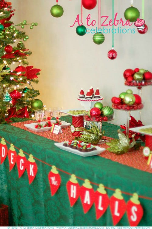 easy christmas party ideas living locurto ornament exchange party - Christmas Party Decorations