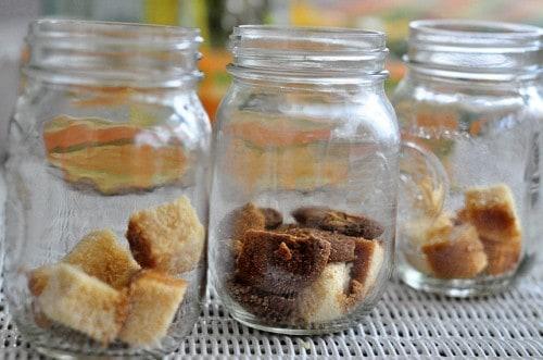 An easy Pumpkin Gingersnap Trifle Recipe in a Jar. Easy holiday fun food dessert or DIY gift idea!