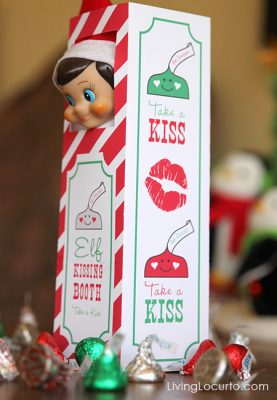 Elf on the Shelf Kissing Booth - Free Printable by Living Locurto