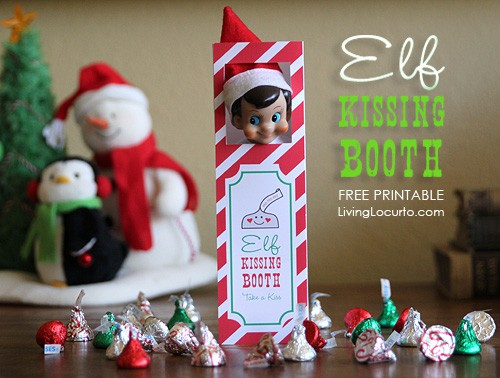 Elf on the Shelf Kissing Booth - Free Printable from Living Locurto