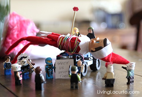 Elf on the Shelf Lego Ambush Idea - LivingLocurto,com