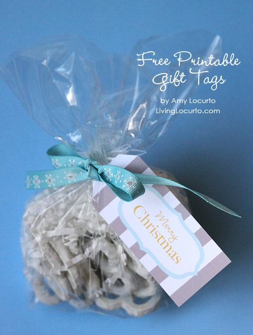 Free Printable Holiday Gift Tags by Amy Locurto   Living Locurto