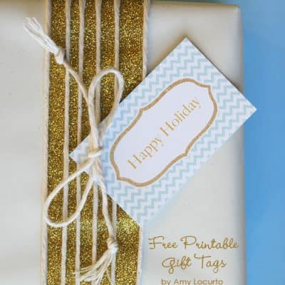 Blue & Gold Holiday Gift Tags (Free Printables)